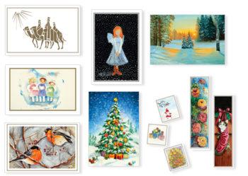 Набор рождественски открытки