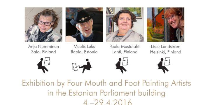 """Näitus """"Kunst ilma käteta"""" Riigikogus"""