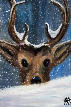 """EST910 """"LUMEHELVES NINAL"""" Alison Lapper on maalinud originaalmaali suuga"""