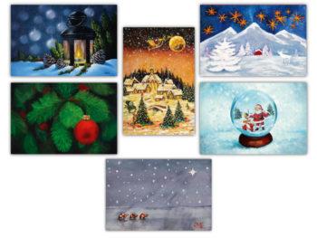 Набор рождественски открытки 2020